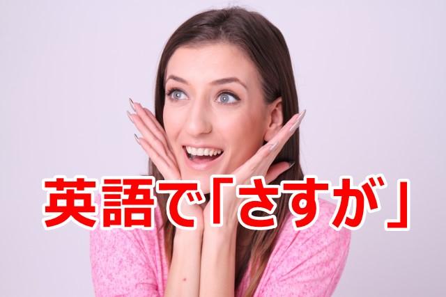 英語でさすが